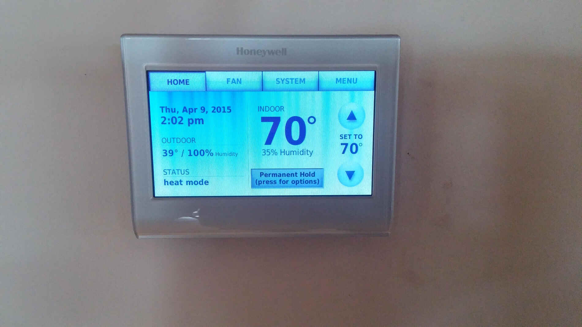 honeywell home thermostat instructions