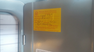 Electrical permit and inspection
