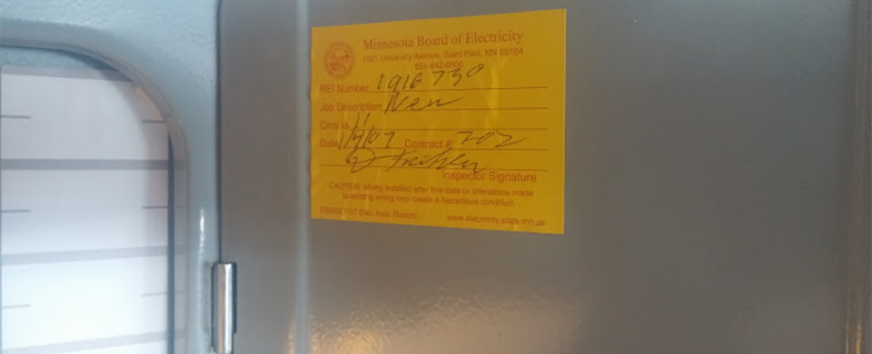 Inspection Sticker - Electrical Inspection