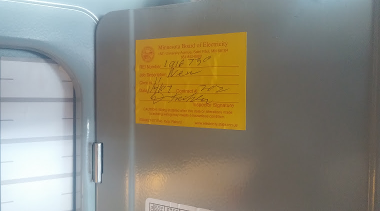 Electrical Inspections And Permits Panel Replacement